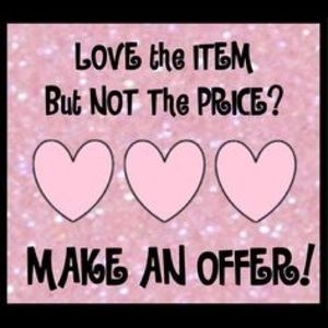 Love an item, but not the price? Make an Offer 💓